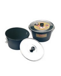 Caja de 6 uds de Flanero Con Tapa Y Cierre Blu 18 Cms, Aluminio Ibili 331118
