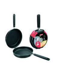 Caja de 4 uds de Sarten Doble Para Tortillas Aluminio Indubasic 28 Cms, Valida Para Todas Las Cocinas Ibili 405928