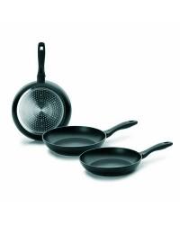 Lote 3 Sartenes Aluminio Chef Style 18+22+26 Cm, Mango Silicona, Valida Para Todas Las Cocinas Ibili 407210