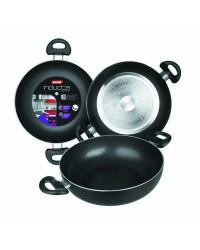 Caja de 6 uds de Sarten Honda Aluminio Con 2 Asas Inducta 24 Cms, Valida Para Todas Las Cocinas Ibili 410524