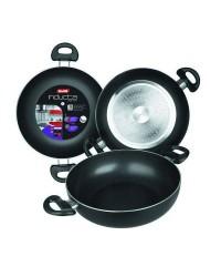 Caja de 6 uds de Sarten Honda Aluminio Con 2 Asas Inducta 36 Cms, Valida Para Todas Las Cocinas Ibili 410536