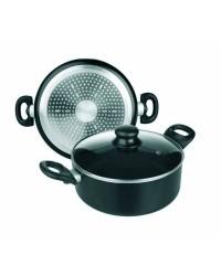 Cacerola Aluminio Inducta Con Tapa 24 Cms, Valida Para Todas Las Cocinas Ibili 410824
