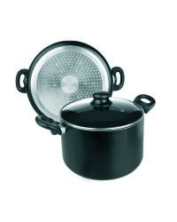 Olla Aluminio Inducta Con Tapa 24 Cms, Valida Para Todas Las Cocinas Ibili 410924