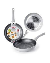 Caja de 6 uds de Sarten Aluminio Silver Net 28 Cm, Valida Para Todas Las Cocinas Ibili 435028
