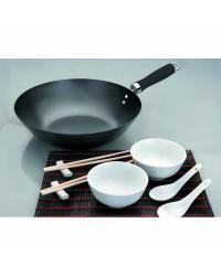Set Wok Moka 30 Cm, Valido Para Todas Las Cocinas Ibili 450630