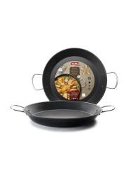 Caja de 4 uds de Paellera Chapa De Acero Gandia 28 Cm, Valida Para Todas Las Cocinas Ibili 501028