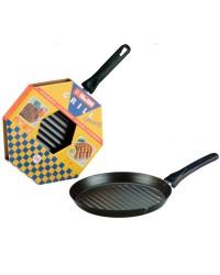 Caja de 6 uds de Asadora Chapa De Acero Mercury 26 Cms, Valida Para Todas Las Cocinas Ibili 530226