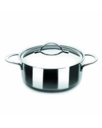 Cacerola Con Tapa Acero Inoxidable Noah 16 Cm, Fondo Capsulado, Valida Para Todas Las Cocinas Ibili 605016