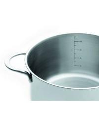 Cacerola Con Tapa Acero Inoxidable Noah 20 Cm, Fondo Capsulado, Valida Para Todas Las Cocinas Ibili 605020