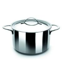 Olla Con Tapa Acero Inoxidable Noah 22 Cm, Fondo Capsulado, Valida Para Todas Las Cocinas Ibili 605222