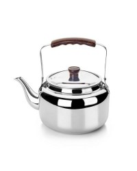 Cafetera Pava Acero Inoxidable 18/10 3,5 Lts, Fondo Capsulado, Valida Para Todas Las Cocinas Ibili 610203