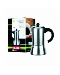Cafetera Acero Inoxidable Indubasic 2 Tazas, Valida Para Todas Las Cocinas Ibili 611302