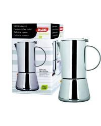 Cafetera Express Essential Acero Inoxidable 6 Tazas, Valida Para Todas Las Cocinas Ibili 620306