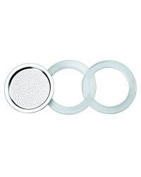 Caja de 6 uds de 2 Juntas Silicona + 1 Filtro Essential 6 Ibili 620352