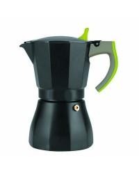 Cafetera Express Aluminio L´Aroma Verde 3 Tazas, Valida Para Cocinas A Gas, Electricas Y Vitroceramicas Ibili 621103