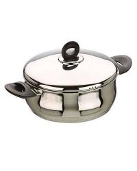 Cacerola Con Tapa Acero Inoxidable Bali 24 Cms, Valida Para Todas Las Cocinas Ibili 660024