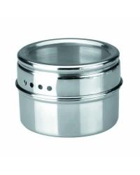 Caja de 6 uds de Especieros Magneticos Acero Inoxidable  6X4 Cm Ibili 665710