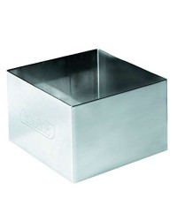 Caja de 6 uds de Aro  Emplatar Cuadrado  Acero Inoxidable  7X7X4,50 Cms. Ibili 716907