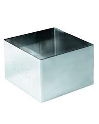 Caja de 6 uds de Aro  Emplatar Cuadrado  Acero Inoxidable  8X8X4,50 Cms. Ibili 716908