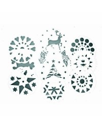 Caja de 12 uds de Set 10 Plantillas Decoradoras De Tartas Ibili 719900