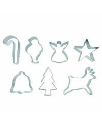 Caja de 6 uds de Set 7 Cortapastas Navidad Estañados Ibili 723800