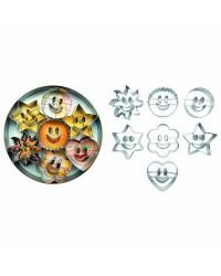 Caja de 6 uds de Set 7 Cortapastas Estañados Sonrisa Ibili 731900