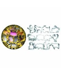 Caja de 6 uds de Set 12 Cortapastas Estañados Animales Ibili 732000