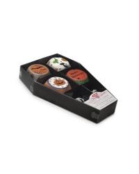 Caja de 12 uds de Capsulas Cupcake+Banderas Hallow Ataud Ibili 737000