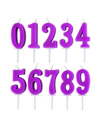Caja de 12 uds de Velas Numero 1 Ibili 786301