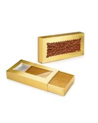Caja de 12 uds de Estuche Papel Para Turron 2 Unidades, 22X10 Cm Ibili 799100
