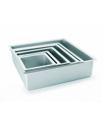 Caja de 6 uds de Molde Cuadrado Recto Extra Alto Aluminio Anodizado 15X10 Ibili 815215