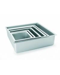 Caja de 6 uds de Molde Cuadrado Recto Extra Alto Aluminio Anodizado 20X10 Ibili 815220