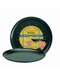 Caja de 6 uds de Molde Pizza Crispy Chapa De Acero Con Antiadherente 28 Cm Ibili 821928