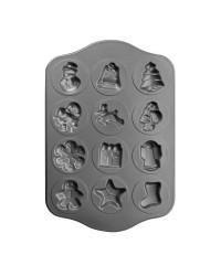 Caja de 6 uds de Molde 12 Cavidades Chapa De Acero Con Antiadherente 36X30 Cm Ibili 828400