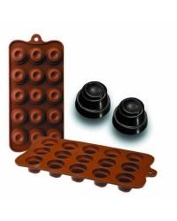 Caja de 6 uds de Moldes Silicona Bombon - Delice, 11X21X2,5 Cm Ibili 860304