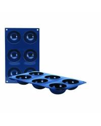 Caja de 6 uds de Molde 6 Cavidades Semiesfera Silicona 7X3 Cm Ibili 870033