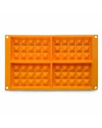 Caja de 6 uds de Molde Gofres Silicona, 8X13 Cm Ibili 873100