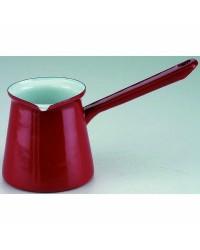 Caja de 6 uds de Cafetera Turca Roja Acero Esmaltado  0,50 Lts. Ibili 910145