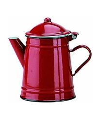 Caja de 6 uds de Cafetera Conica Roja Acero Esmaltado 0,50 Lts. Ibili 910250