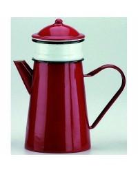 Caja de 4 uds de Cafetera Con Filtro Roja Acero Esmaltado 1,5 Lts. Ibili 910815