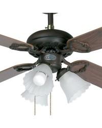 Ventilatore da soffitto color marrone con luce - Faro disegno LISBOA
