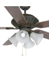 Ventilatore da soffitto color marron con luce - Faro disegno CORSO
