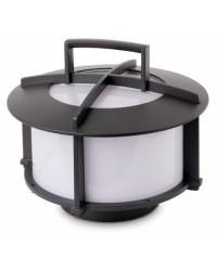 Lampada portatile da tavolo E27 da giardino esterno in alluminio color grigio scuro - CROSS-1
