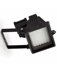 Faretto proiettore LED da giardino esterno in alluminio color nero - EGEO