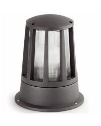 Lampada E27 da giardino esterno in alluminio color grigio scuro - SURAT