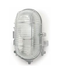 Lampada applique da parete per giardino esterno in PVC color grigio - CRIPTA