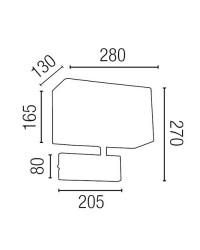 Lampada applique E27 in metallo e tela color nichel opaco - RODA