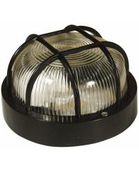 Lampada applique E27 da parete esteriore in ABS color nero - RONDO