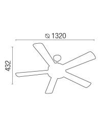Ventilatore da soffitto marrone con luce - Faro Manila 33190