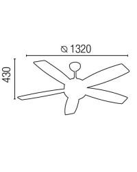 Ventilatore da soffitto color marrone scuro con luce e telecomando - Faro disegno VANU